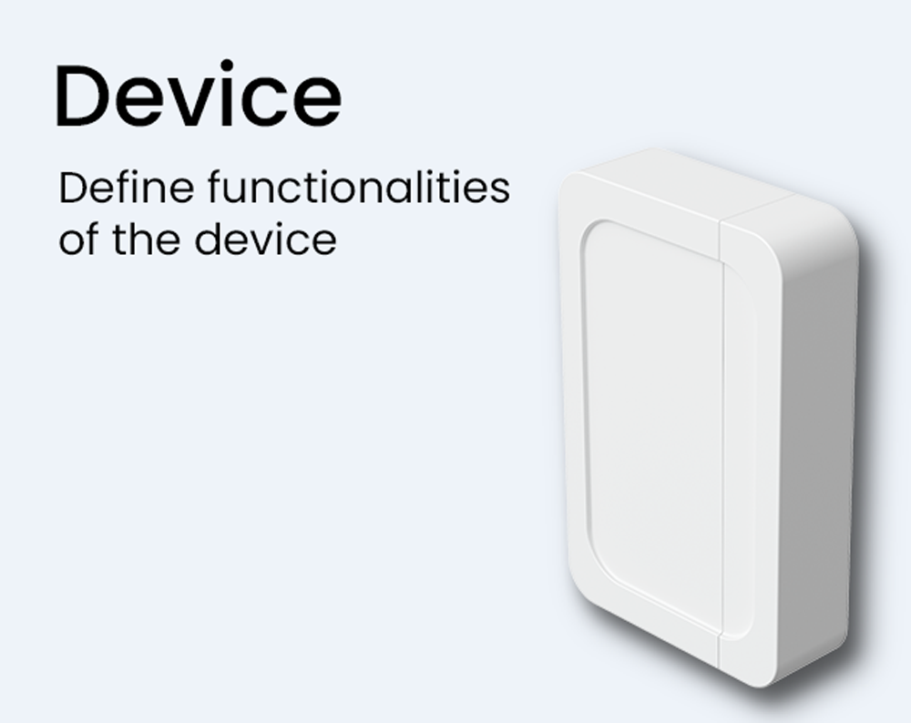 device smart iot home oblo define functionalities of the device connectivity sdk module modules